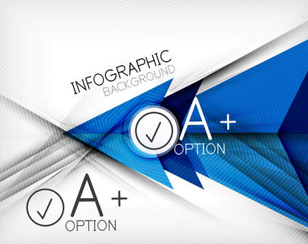 Infographic geometrical shape abstract background. For infographics, business backgrounds, technology templates, business cards
