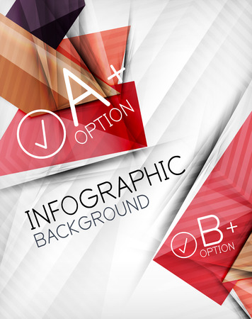 Infographic options geometrical background design. For business background | numbered banners | business lines | graphic website | mobile app Vector