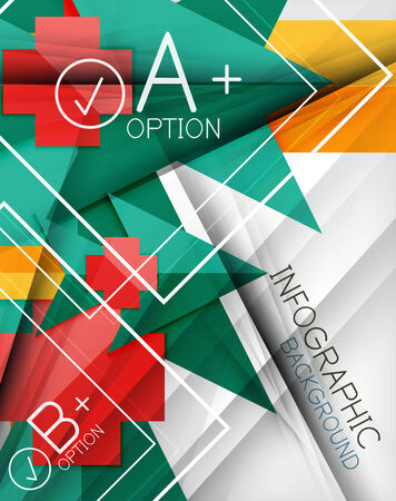 Infographic geometrical shape abstract background. For infographics, business backgrounds, technology templates, business cards Vector
