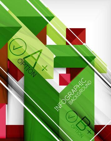 business backgrounds: Infografica forma geometrica sfondo astratto. Per infografica, sfondi di business, modelli di tecnologia, biglietti da visita Vettoriali