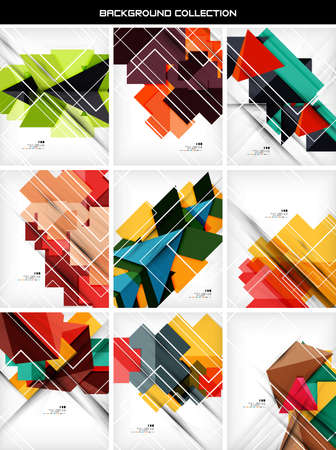 website backgrounds: Collection of geometric shape abstract backgrounds. For business background | numbered banners | business lines | graphic website