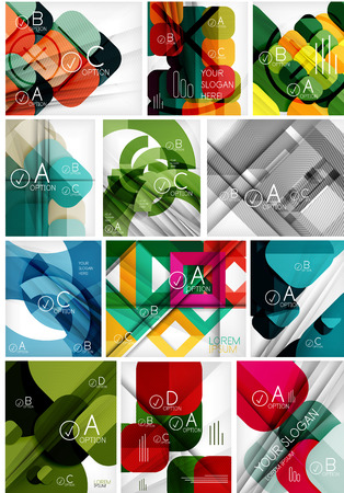 business continuity: Mega set of paper geometric backgrounds. For business background | numbered banners | business lines | graphic website