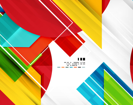Futuristic geometric shape abstract business template For banners, business backgrounds, presentations Vector