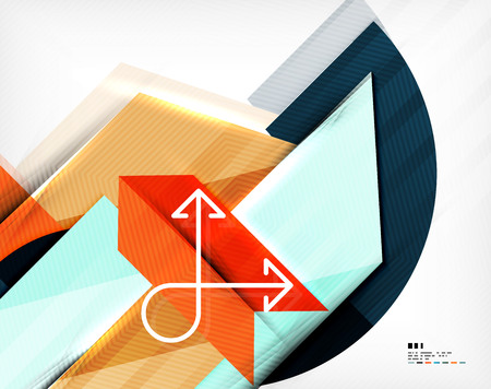 Geometric abstraction business poster. For banners, business backgrounds, presentations Vector
