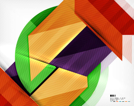 modish: Geometric abstraction business poster. For banners, business backgrounds, presentations Illustration