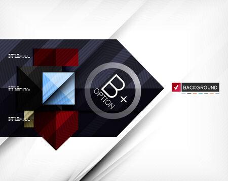 business backgrounds: Affari geometrico bandiera opzione infografica. Per striscioni, sfondi aziendali, presentazioni