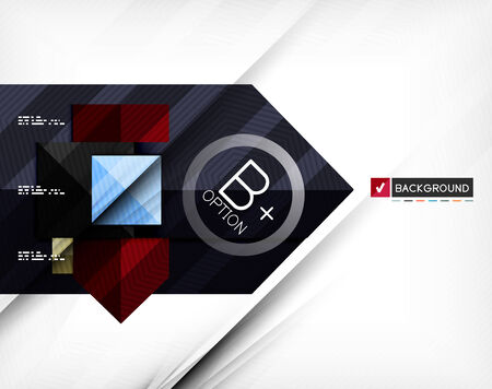 Business geometric infographic option banner. For banners, business backgrounds, presentations Vector
