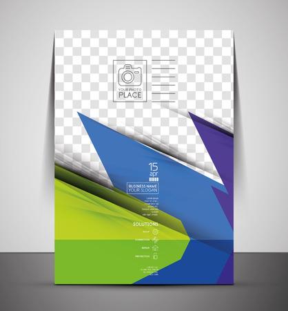 CMYK Business Corporate Flyer Template   Geometrical Design Vector