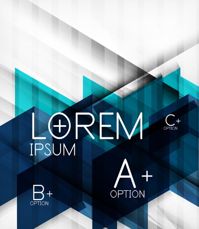 Blocks geometric abstract background with infographic options