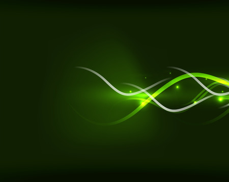 Abstract glowing lines in darkness Vector