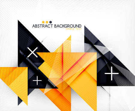 Triangle geometric shape abstract background. Bright abstraction Vector