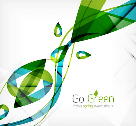 Green leaves spring nature design concept. Nature abstraction Vector