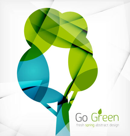 Eco Tree Abstract Shape Design. Abstract concept Vector