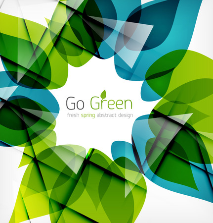 Green leaves spring nature design concept. Nature abstraction