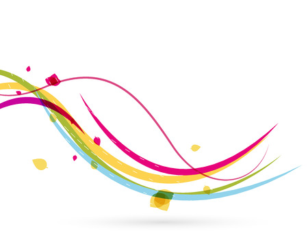 Colorful spring lines conceptual nature design. Wave lines Vector