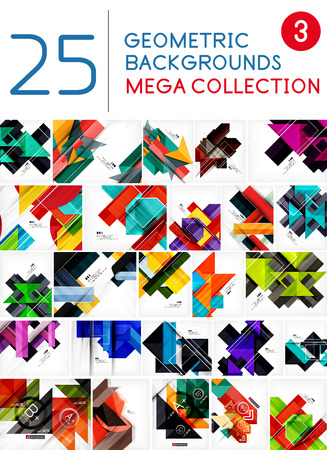 repeate: Mega collection of geometric shape abstract backgrounds Illustration