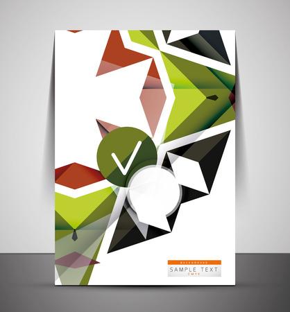 multipurpose: CMYK Business Corporate Flyer Template | Geometrical Design Illustration
