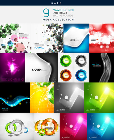 Mega collection of various shaped abstract backgrounds Vector