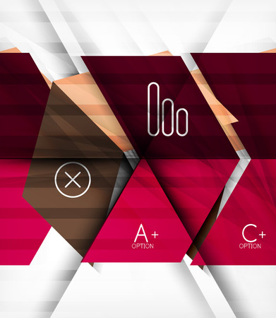multifaceted: Futuristic blocks geometric abstract background with infographic options