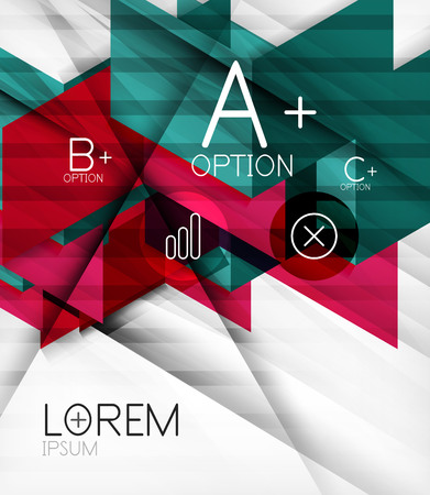 similar images preview: Blocks geometric abstract background with infographic options