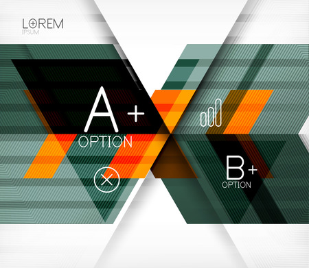 Blocks geometric abstract background with infographic options Vector