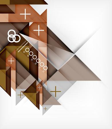 Vector Geometric Design Template For Brochure | Booklet Vector