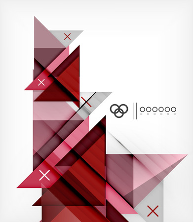 Vector Geometric Design Template For Brochure | Booklet Vector