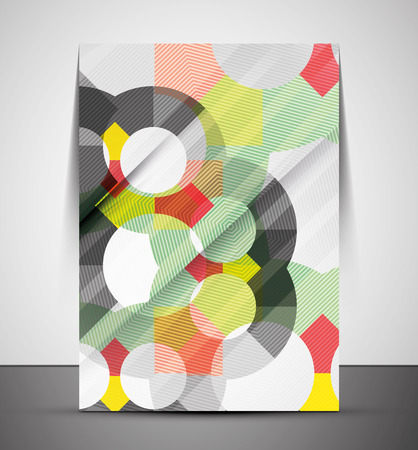 Multipurpose CMYK geometric print template without any sample text Vector