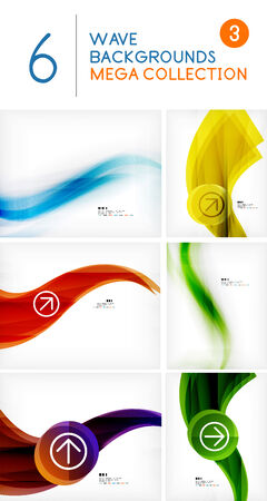 Mega set of wave abstract backgrounds | vector design Vector