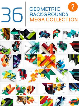 cuadrados: Mega colección de forma geométrica fondos abstractos