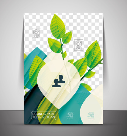 Nature professional corporate flyer print template with place for your photo Vector