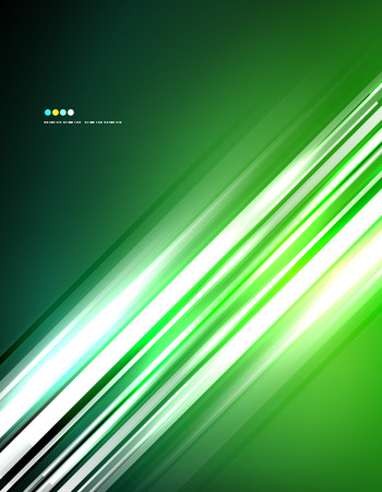 Light shiny straight lines on color background. Abstract design template Vector