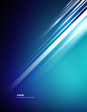 Light shiny straight lines on color background. Abstract design template