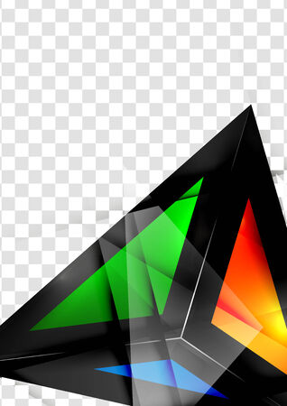 abstractions: Glass geometric info background. Colorful abstractions with glossy elements for business  technology designs