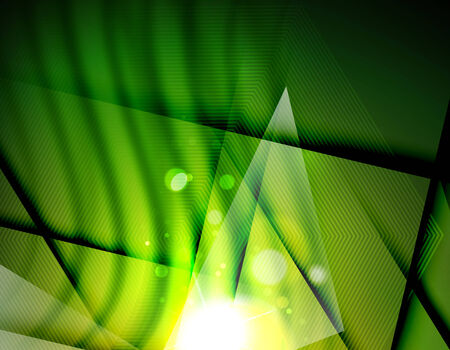 Hi-tech futuristic abstract blurred flares and green colors Vector