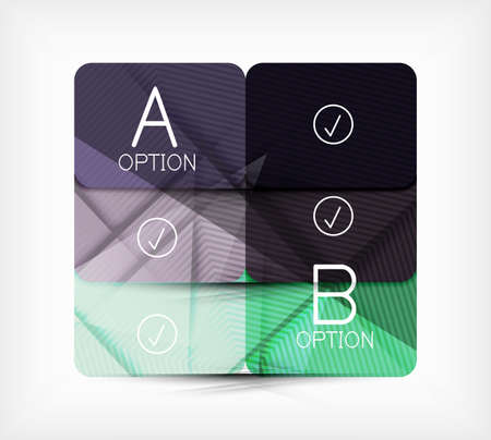Geometric shaped option banner  infographic box  presentation panel design template Vector