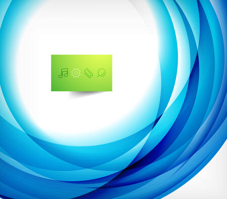 blue swirl: Blue swirl wave abstract design template Illustration