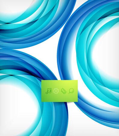 blue swirl: Blue swirl wave abstract vector design template Illustration