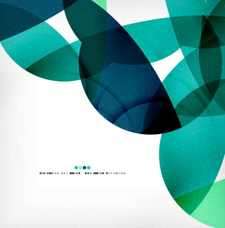 circle shape: Big geometric shapes corporate business template. Flowing colorful round shapes, textured abstract background Illustration