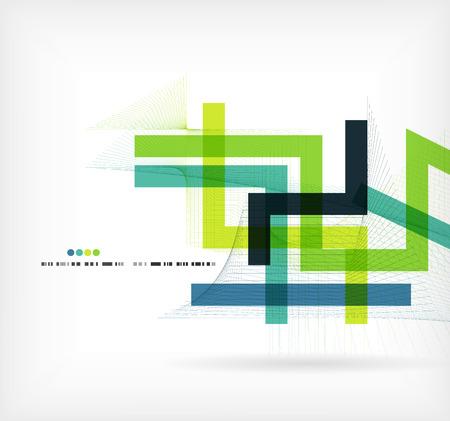 Colorido plantilla de negocio Las líneas rectas