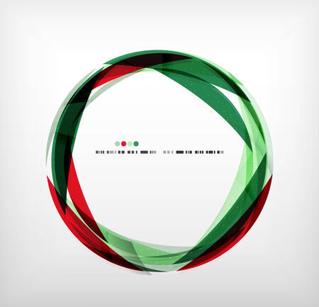 Red and green ring - business abstract bubble shape design template Vector