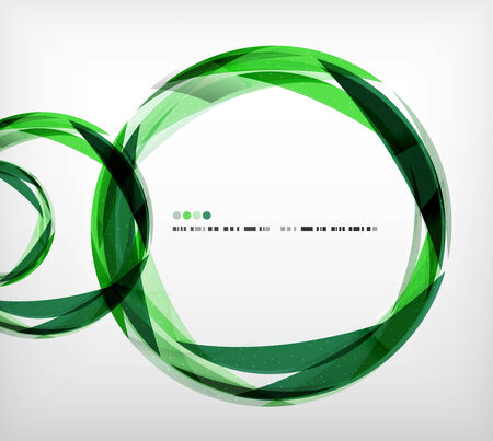 Green ring - business abstract bubble shape design template Vector