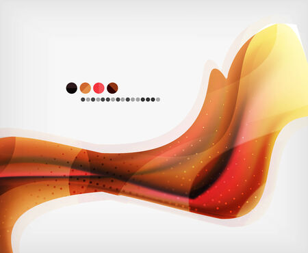 Abstract Blurred Waves In The Air - Business Brochure Template Vector
