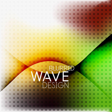 Colorful blurred wave business hi-tech background with dot textrure Vector