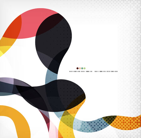Colorful swirl wave lines background with dot texture Vector