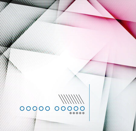 Geometric diamond shape abstract background - hi-tech corporate blank design template Vector