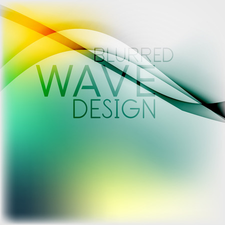 Textured blurred color wave background. Futuristic hi-tech modern business or technology design template Vector