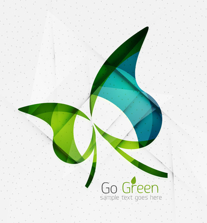 Green eco unusual background concept - llustration Vector