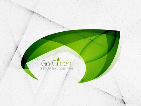 Green eco unusual background concept - illustration Vector