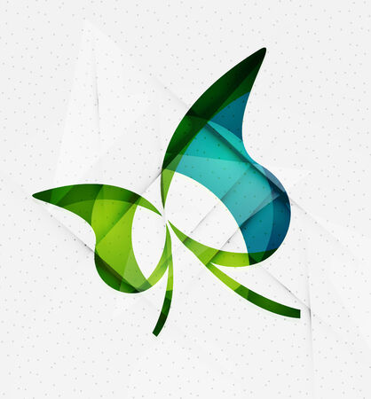 Green eco unusual background concept - llustration Vector